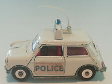 MINI COOPER S POLICE-CAR IN WEISS 1:43 VON DINKY TOYS 250 ENGLAND VON 1966-1971