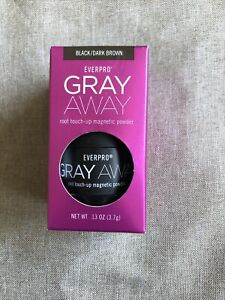 Everpro Gray Away Temporary Root Touch Up Magnetic Powder, Black / Dark Brown