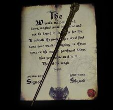 Magic Harry Potter Wand with wand activation signing sheet