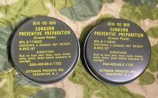 TWO 1967 Vietnam War US Army/USMC Sunburn Preventive Cream Unopened/Unissued