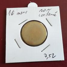 1 € euro FLAN VIERGE monométallique non frappé ronde blank planchet