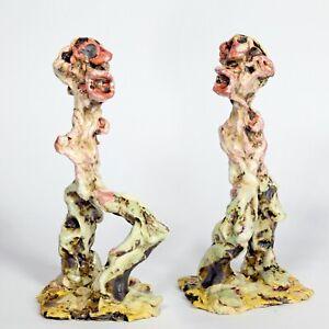 """Skulptur """"Heraklit"""" 18cm Unikat Keramik Andreas Loeschner-Gornau"""