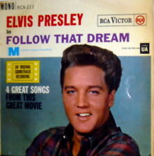 "ELVIS PRESLEY RARE EP MONO 7"" FOLLOW THAT DREAM OST PRINTED ENGLAND 1962"