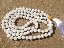 Moon Stone White Mala Jap Mala Hindu Japa Meditation Yoga Necklace Rosary 108