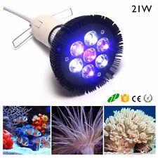Aquarium Fish Tank E27 21W White+Blue Coral Reef Water Plant Grow LED Light Lamp