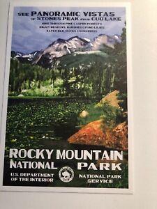 Rocky Mountain National Park WPA Style Art Postcard New