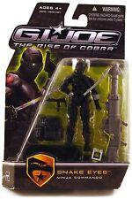 "2009 GI JOE 4"" RoC SNAKE-EYES NINJA COMMANDO v.43 mint on sealed card MOC MOSC"