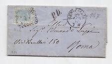 J761-MARCHE-20 CENT DA SENIGALLIA X ROMA CON PD 1870