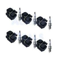 6 NGK Platinum Spark Plug + 6 High Performance Ignition Coils For Mercedes