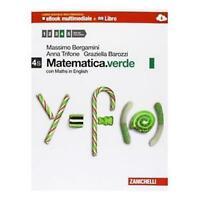 Matematica.verde 4S con maths english, zanichelli, Bergamini cod.9788808700025