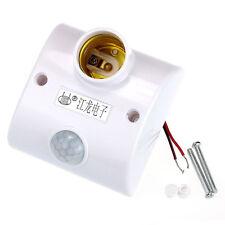 Home E27 Infrared Motion PIR Sensor Automatic LED Light Lamp Holder Switch New