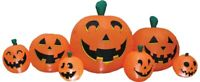 Pumpkin Airblown Inflatable Patch 8.5' Long Yard Decor Prop Halloween