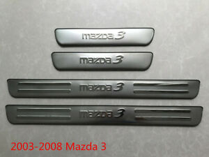 Stainless Steel Outside Door Sill plate Guard protector cover Trim For Mazda 3
