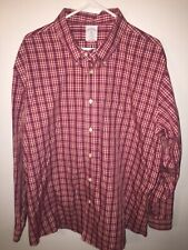 Brooks Brothers 1818 REGENT Fit Red Checkered Button  Down XXL 2XL non-iron