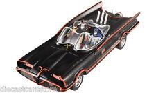 1966 TV SERIES BATMOBILE WITH BATMAN & ROBIN FIGURES 1/18 BY HOTWHEELS DJJ39