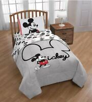 Disney Mickey Mouse 3 Pieces Twin Sheet Set Kids Bed Sheets Set Boys Girls NEW