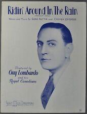 1934 RIDIN' IN THE RAIN Sheet Music GUY LOMBARDO Gene Austin