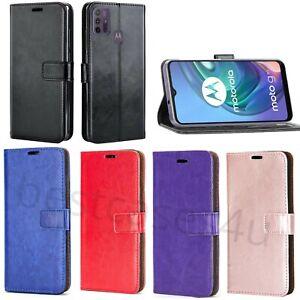 For Motorola Moto G10 / G30 Phone Case Leather Flip Slim Gel Wallet Book Cover