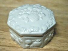 """Lenox 8 Sided """"Fruit"""" 2 Piece Trinket Or Keepsake Box Excellent Condition"""