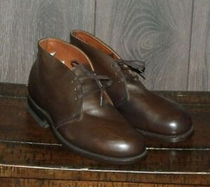 Handmade Leather Chukka Approximate SIZE 9-10 Leather Steel Toe Goodyear Welted