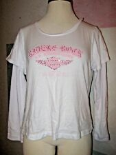 HARLEY-DAVIDSON White w/ Pink RIDERS ROCK US RIDING TOUR LS Stretch Shirt 1X
