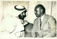 Original  Photograph Sheikh Zayed Bin Sultan Al Nahyan with Somali officials