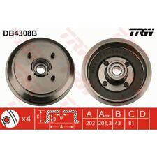 TRW Bremstrommel DB4308B FORD FIESTA IV 4 JA JB V 5 JH JD FUSION 1.25 1.3 1.4 1.