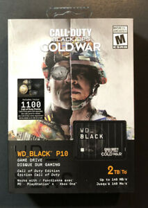 WD Black P10 Game Drive 2TB [ Call of Duty Black Ops Cold War Edition ] NEW