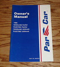 1989 Columbia ParCar Golf Car Owners Operators Manual 89