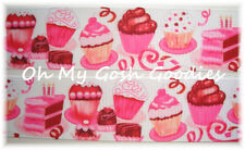 1.5 CUPCAKE BAKERY PINK BIRTHDAY PARTY PARFAIT GROSGRAIN RIBBON 4 HAIRBOW BOW