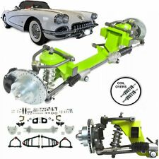 "1953-1962 Chevy Corvette Mustang II IFS Coil Over 2"" Drop 5x4.75 Power LHD Rack"