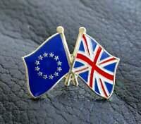 European Union EU United Kingdom UK Flag Friendship Metal Enamel Pin Badge 2021