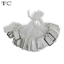 100pcs Silver Labels Tie String Strung Retail Price Tags Jewellery Watch Display