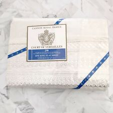 NWT CANNON ROYAL FAMILY Court Of Versailles 250 Thread One King Flat Sheet