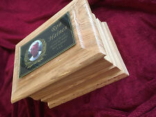 Solid oak wood Cremation ashes casket / Funeral / Adult / Urn / Personalised