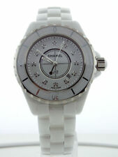 Chanel J12 White Ceramic 33mm Quartz Diamind Dial H1628