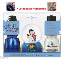 "China Glaze nail polish ""Let It  Snow""  includes Christmas snow globe       LMS"