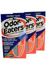 3 x ODOR-EATERS SUPER TUFF DEODORISING INSOLES.WASHABLE GOOD VALUE