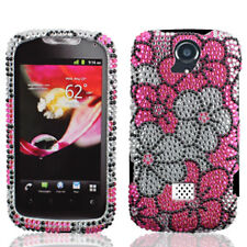 T-Mobile Huawei myTouch Q U8730 Crystal BLING Case Phone Cover Pink White Flower