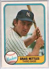 GRAIG NETTLES 1981 Fleer #87