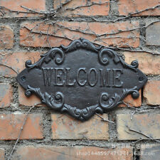 Vintage Rustic Cast Iron WELCOME Sign Decorative Metal Welcome Plaque Wall Decor