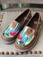 Ariat Women's Brown Bomber & Floral Cactus Cruiser Shoe 10029748