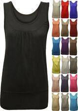 T-shirt, maglie e camicie da donna senza maniche basici viscosi