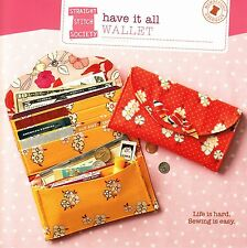 HAVE IT ALL WALLET SEWING PATTERN, from Straight Stitch Society, *NEW*