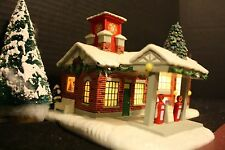 HAWTHORNE FIREFIGHTERS FUEL FIREFIGHTERS CHRISTMAS VILLAGE - LIGHTED