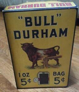 Rare Antique Bull Durham Tobacco Pouch Retail Box.  Original Excellent Condition
