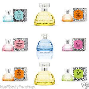 Body Shop ~ EAU DE TOILETTE ~ New Range Of Glamour EDT In Fabulous Glass Bottles