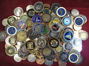 Military challenge coins...buy one get one free Army, Navy, Marines, Air Force,