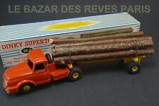 DINKY TOYS FRANCE. Tracteur WILLEME fardier.  REF: 36A + boite (lot 3)
