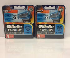8 Gillette Fusion les vêtements ProShield Chill Bleu Lames de rasoir en avec